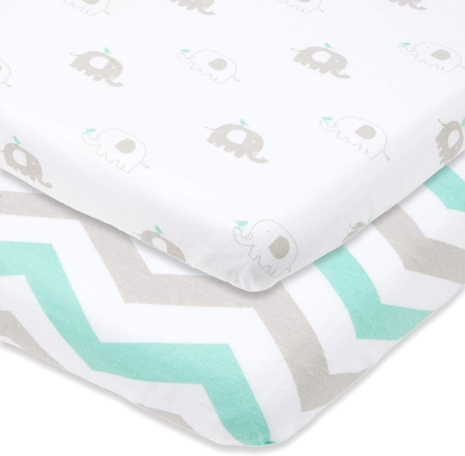 2 x Baby Crib Fitted Sheets to fit Chicco Next2Me Crib New 100/% Cotton