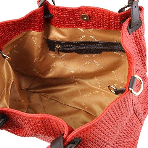 Tuscany Leather TL141568, Borsa a spalla donna Rosso rosso compact