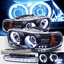 1999-2006 GMC YUKON DENALI CCFL HALO PROJECTOR HEADLIGHTS + LED FOG BUMPER LAMPS