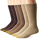 Gold Toe Mens Cotton Crew Athletic Sock, 6-Pack