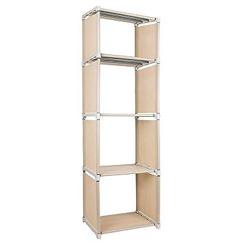 Azadx 4 Cube Bookcase, Unidades de Almacenamiento de estantes Ajustables para Bricolaje