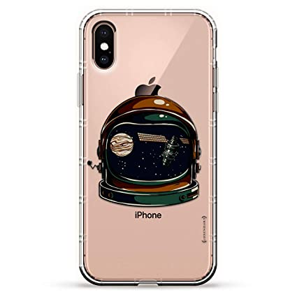 72985cd1 ASTRONAUT HELMET SPACE REFLECTION | Luxendary Air Series Clear Silicone  Case with 3D printed design and