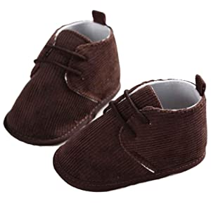 Amiley Baby Toddler Infant Snow Boots Bandage Soft Sole Prewalker Crib Shoes (Size 13 (US:4---12~18 Month), Coffee)