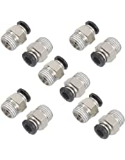 """1/4"""" PT Male Thread 6mm Straight Pneumatic Push in Quick Fitting Connectors for PETF Tube 10Pcs"""