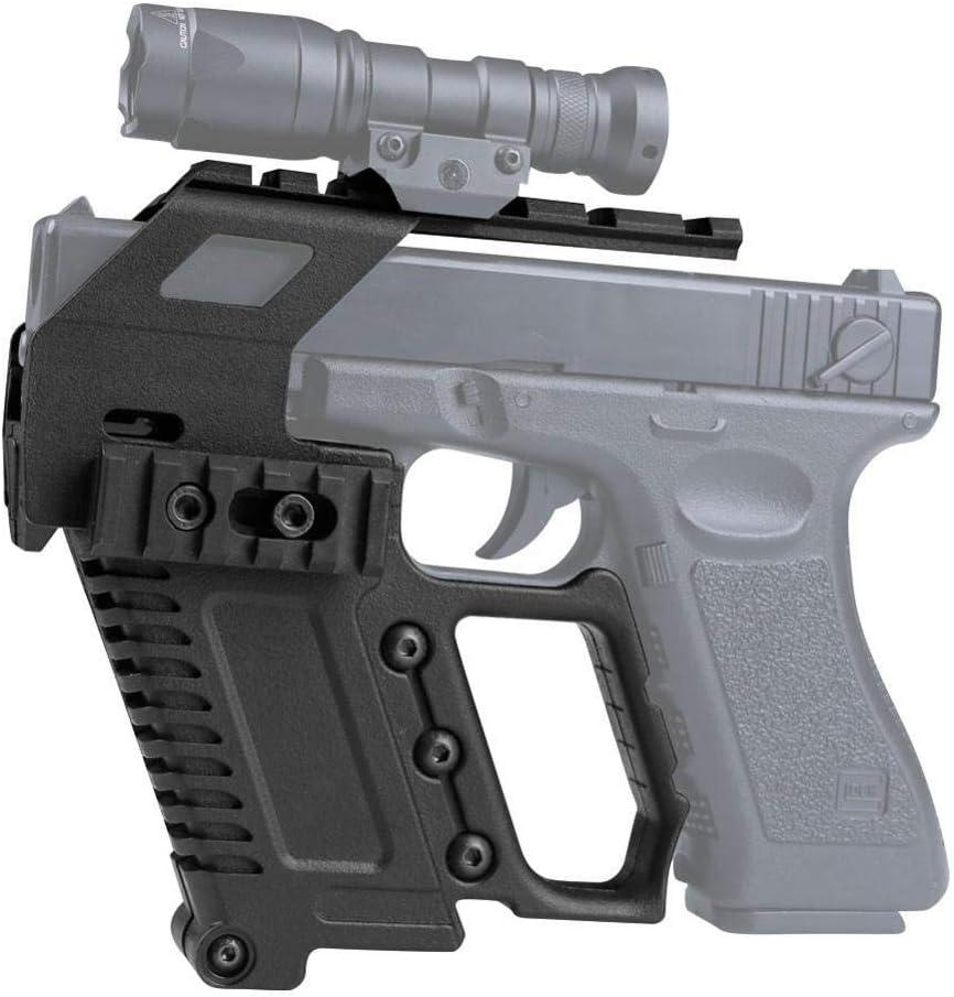 NO LOGO L-Yune, Pistola táctica Carabina Glock Kit de riel de la Base de Recarga rápida Cargando 17 18 19 23 Airsoft Alcance Caza Accesorios Arma de la Caja del Dispositivo (Color : GB 48 BK)