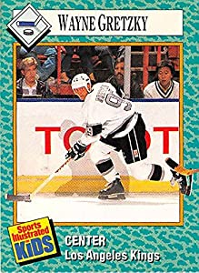 Wayne Gretzky hockey card 1991 Sport Illustrated for Kids #3 (Los Angeles Kings Great One)