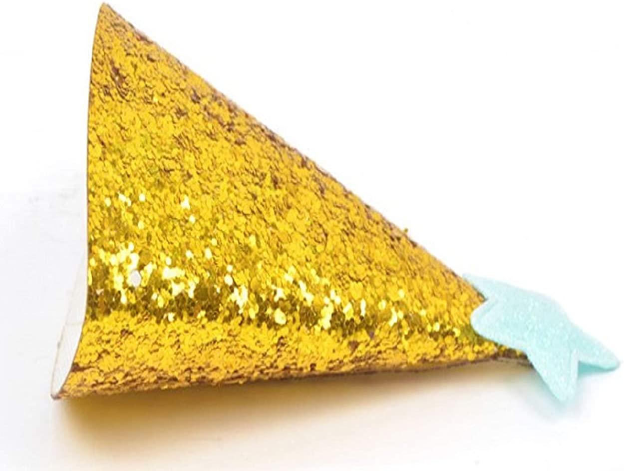 4Pcs,gold stars cloth party hats birthday wedding festival parties,reusable cloth material