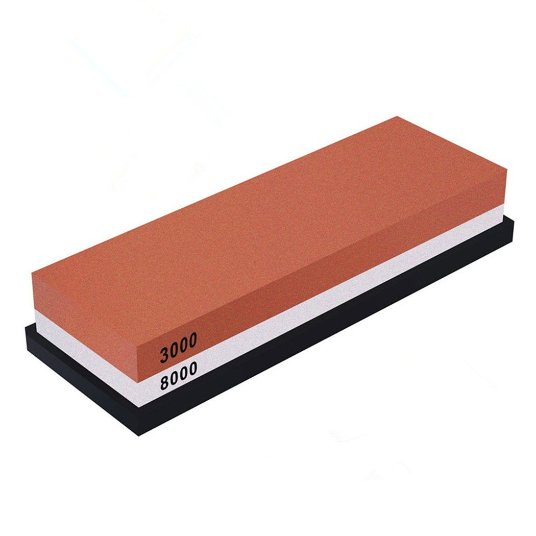 Whetstone — Lupan Double-Sided Knife Sharpening Stone Grit with sturdy non-slip rubber Base (3000/8000) by Lupan (Image #1)