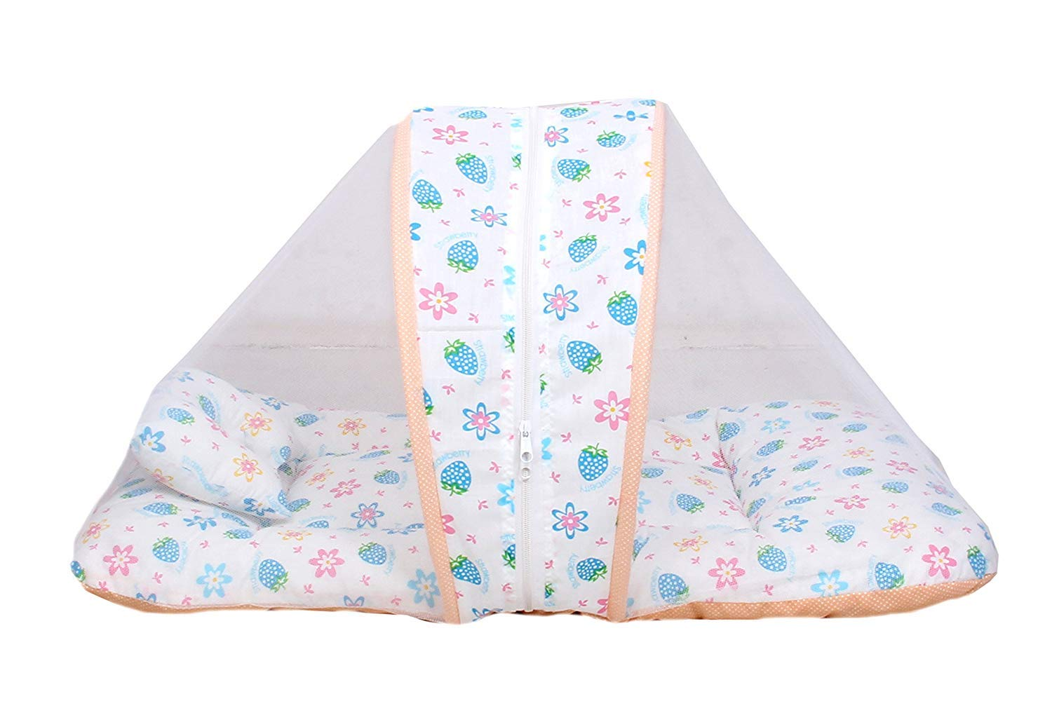 Baby Mosquito Cotton Net Bed with Pillow (0-6 Months)