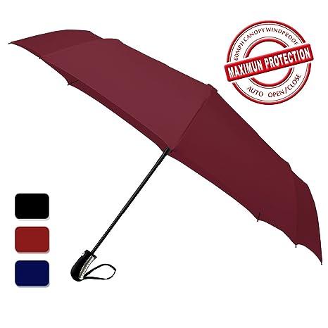 Paraguas Plegable Automático Parasol Anti UV - Antiviento - Apertura y Cierre Automático - Doble Cubierta