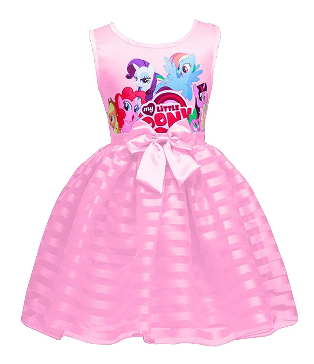 LEMONBABY Summer My Little Pony Sleeveless Princess Casual Lace Dress