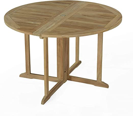 Table Pliante Ronde en Teck Ecograde Domingue ø 120 cm ...