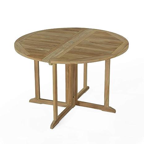 Table Pliante Ronde en Teck Ecograde Domingue ø 120 cm ...