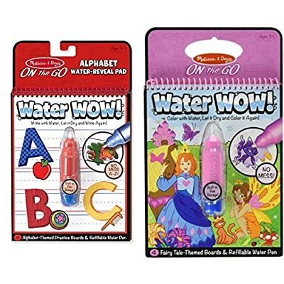 Melissa & Doug Water Wow Activity Book - Alphabet and Fairy Tale Bundle: Toys & Games