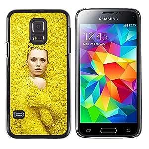 LECELL--Funda protectora / Cubierta / Piel For Samsung Galaxy S5 Mini, SM-G800, NOT S5 REGULAR! -- Fashion Spring Woman Design --