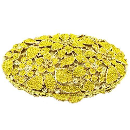 bcc7d6302 Nuevo Bolso Mujer Noche Bolsas Fiesta Boda Carteras Brillo Mano Diamantes  Cadena Embrague Dorado