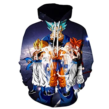 XIELH Sudadera Dragon Ball Z Goku Super Saiyan Print Fashion 3D ...