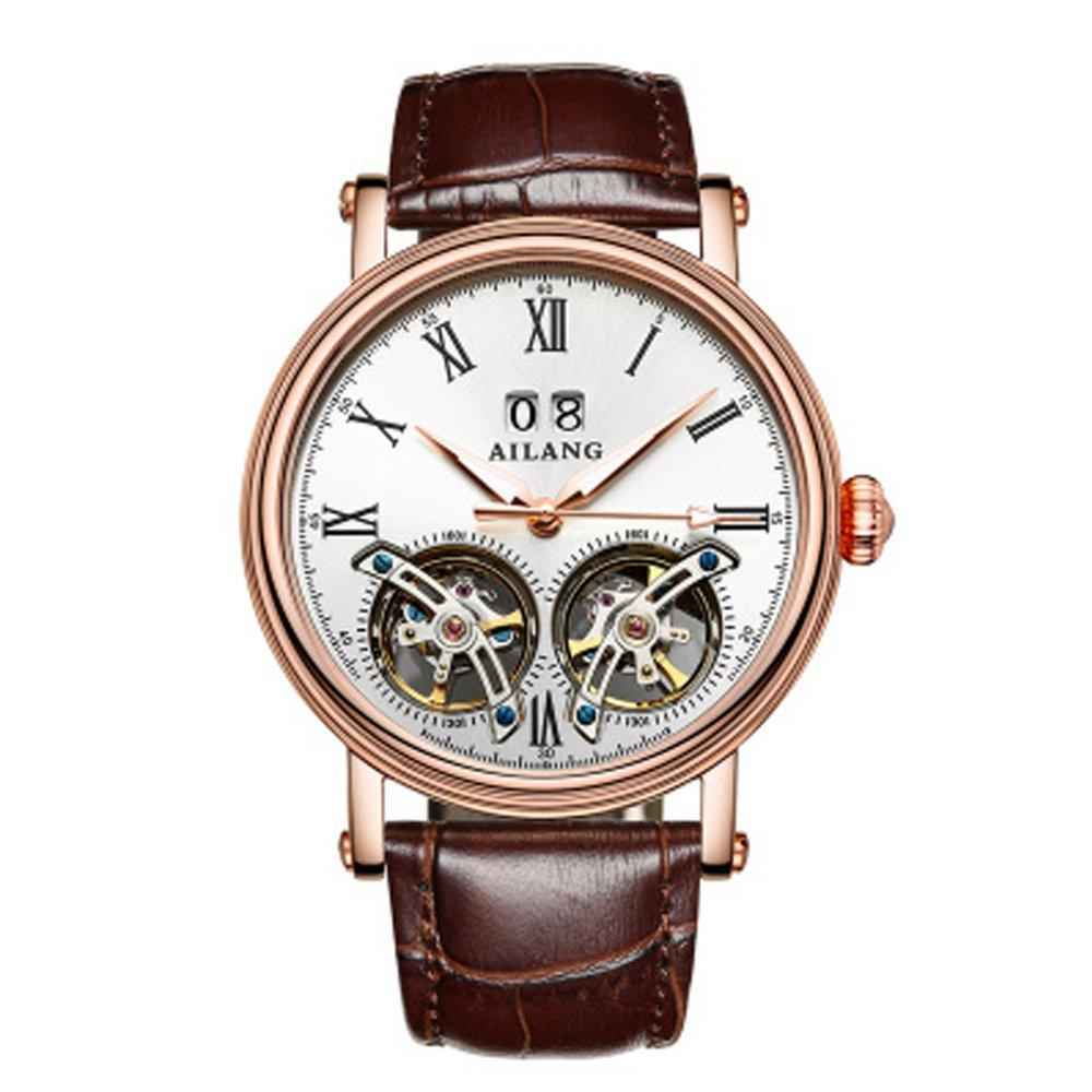 AILANG New Arrival Double Tourbillons Auotmatic Watches Fashion Business Calendar Dress Wrist watch