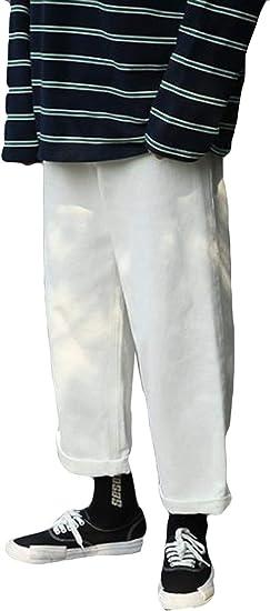 AOZUOデニムパンツ メンズ 秋 冬 ゆったり ワイドパンツ メンズ ジーンズ ストレート ビッグシルエット ボトムス 通学 デート メンズ ロングパンツ 無地 原宿風パンツ