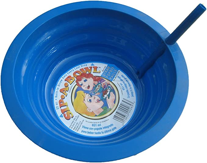 Arrow Plastic Sip-A-Bowl 22 oz Pack of 4 Assorted Colors