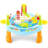 FUNCOCO Magnetic Fish Bath Toys Swimming Tub Bathtub Toy Set Kid Educational Water Toys Gift