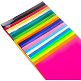"TECKWRAP Heat Transfer Vinyl Assorted Color HTV Iron On Vinyl for Silhouette Cameo,Cricut 12""x10"" 20 Sheets"