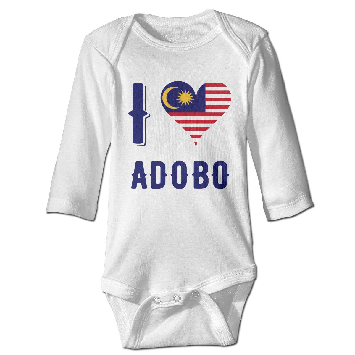 Newborn I Love Adobo Long Sleeve Climbing Clothes Romper Jumpsuit Suit 6-24 Months