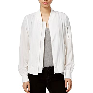 0f3b6f79bb0 Image Unavailable. Image not available for. Color  VELVET HEART Womens  Bomber Jacket White Large
