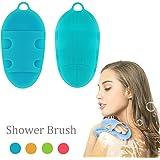 Morbido Spazzola per il corpo in silicone Lavaggio del corpo Guanto da bagno Pelle esfoliante SPA Massage Scrubber Cleanser, per pelli sensibili e di ogni tipo