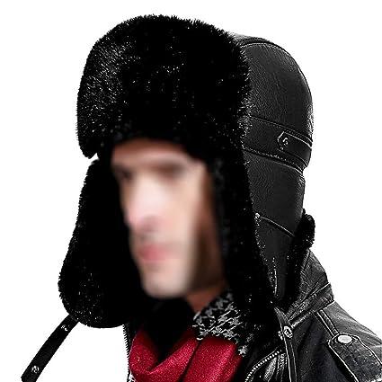 a8b56f0e4 Amazon.com: zxcvb Unisex Womens Mens Winter Windproof Faux Fur ...