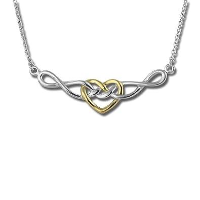 SilberDream Halskette 925 Silber vergoldet 45cm Herz Schmuck Silber  D1SDK50045Y  Amazon.de  Schmuck be5e0a8efd
