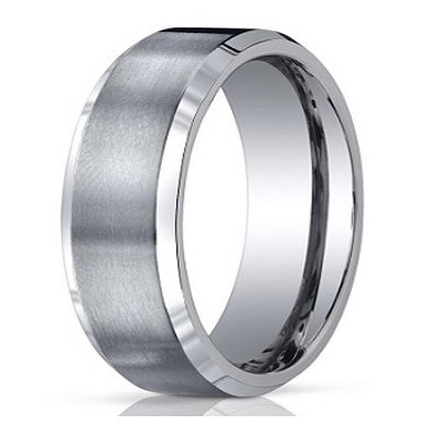 Men s Benchmark Titanium Wedding Band with Satin Finish and