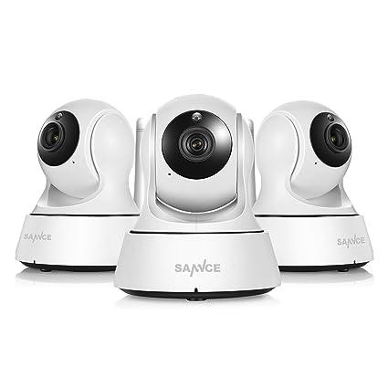 SANNCE Kit de 3X 1080P IP WiFi Cámara Video Vigilancia IR Vision ...