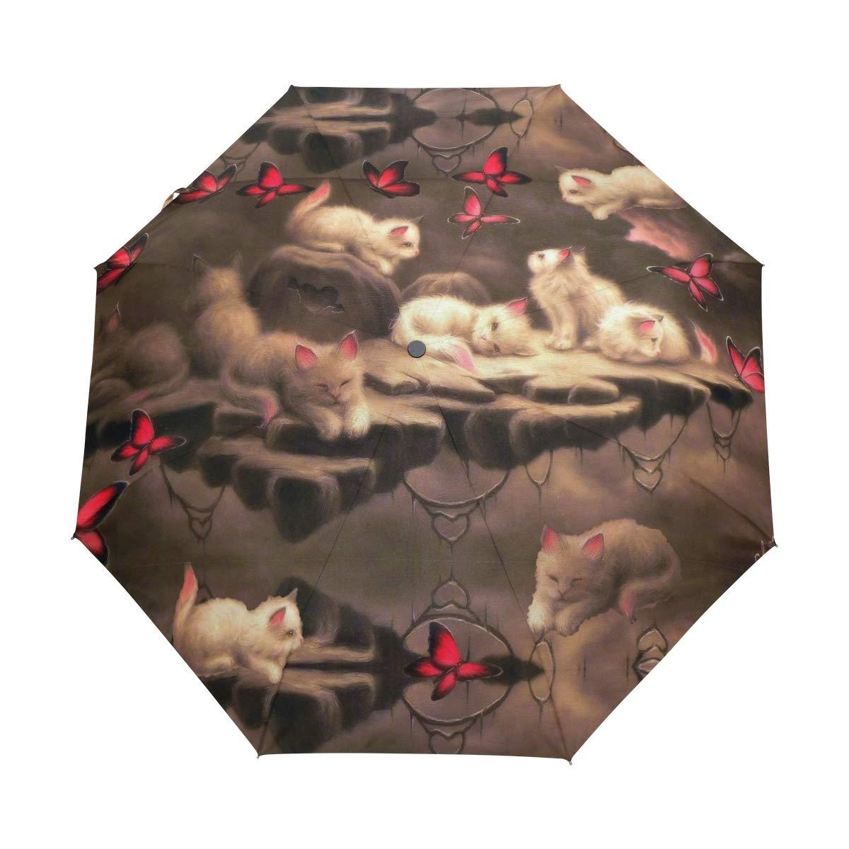4de2562d98c0 Amazon.com: FVFV Cat Automatic Foldable Umbrella UV Protection Auto ...