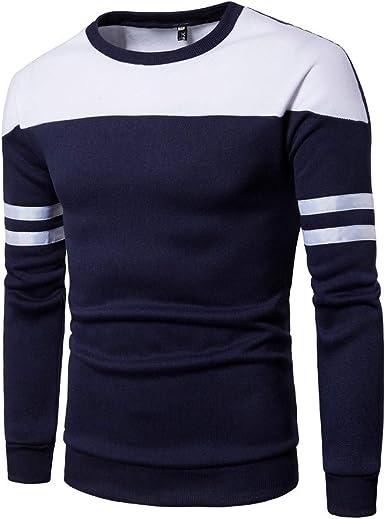Oliviavan Camiseta para Hombre, Sudadera Hombre Remiendo de Manga Larga Algodon Camisetas De Hombre Moda Simple Urbanas Camisas: Amazon.es: Ropa y accesorios