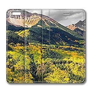 Autumn Mountain Landscape 7 iPhone 6 Plus 5.5inch Leather Case, Personalized Protective Slim Fit Skin Cover For Iphone 6 Plus [Stand Feature] Flip Case Cover for New iPhone 6 Plus by mcsharks