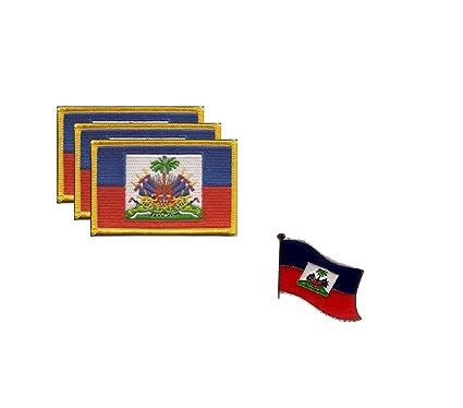 Amazon.com: PACK of 3 Haiti Flag Patches 3.50\