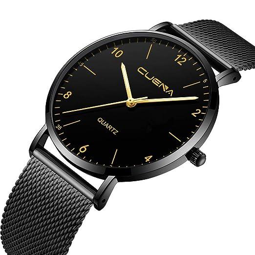 Relojes Caliente Reloj Hombre Reloj Mode de Cuarzo Retro Diseño Banda de Esfera de Acero Inoxidable Reloj de Pulsera Casual Reloj de Pulsera de Cuarzo: ...