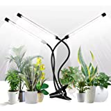 Grow Light for Indoor Plants,GHodec Tri-Head 126LED Clip Plant Lights with Flexible Gooseneck & Timer Setting 4/8/12H,5 Dimma