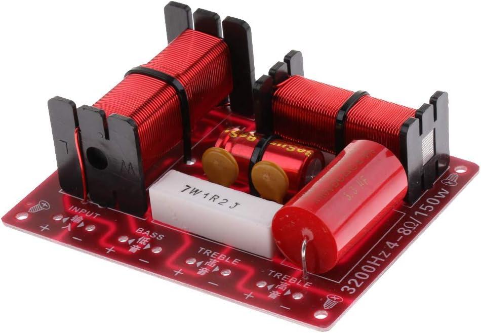 Baoblaze 3 Vías 150W Divisores de Frecuencia Filtro de Audio Cruce de Altavoz Repuestos para Altavoces