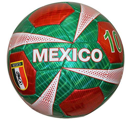 (Vizari Mexico Soccer Ball, Green, Size)