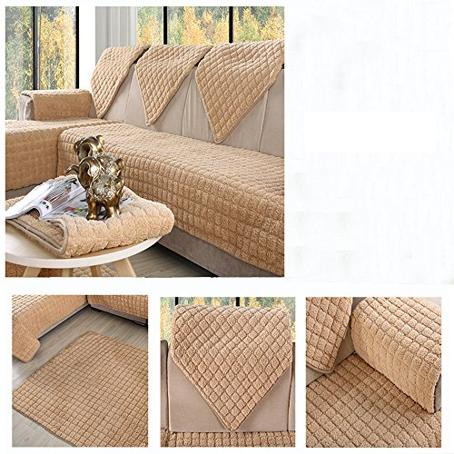 Ieasycan 2colors 2/3 Seat Sofa Covers Fleeced Fabric Knit Eco-Friendly Anti-Mite Manta Sofa Slipcover Couch Cover for living/Drawing Room (Outdoor Furniture Settings Brisbane)