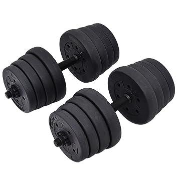 66lb peso juego de mancuernas ajustable Cap gimnasio pesas entrenamiento platos formación: Amazon.es: Deportes y aire libre