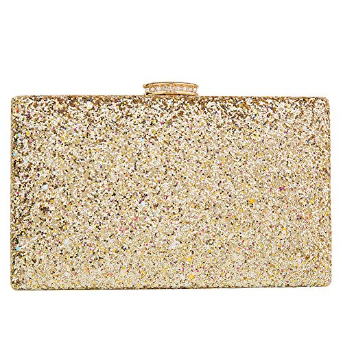 Sparkling Clutch Purse Elegant Glitter Evening Bags Bling Evening Handbag for Dance Wedding Party Prom Bride (Gold1)