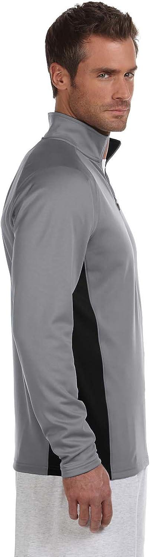 XL Scarlet//Black Double Dry Colorblock 1//4 Zip Jacket