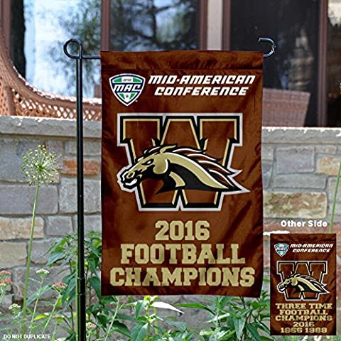 Western Michigan University Broncos MAC 2016 Champions Garden Flag