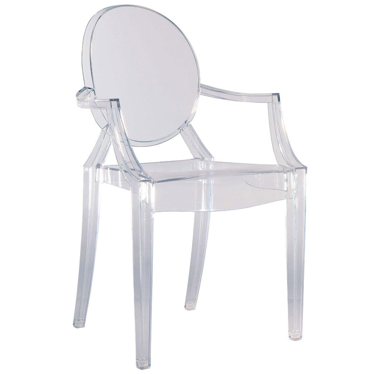 Kartell 4852B4 Stuhl Louis Ghost Glas klar: Philippe Starck ...