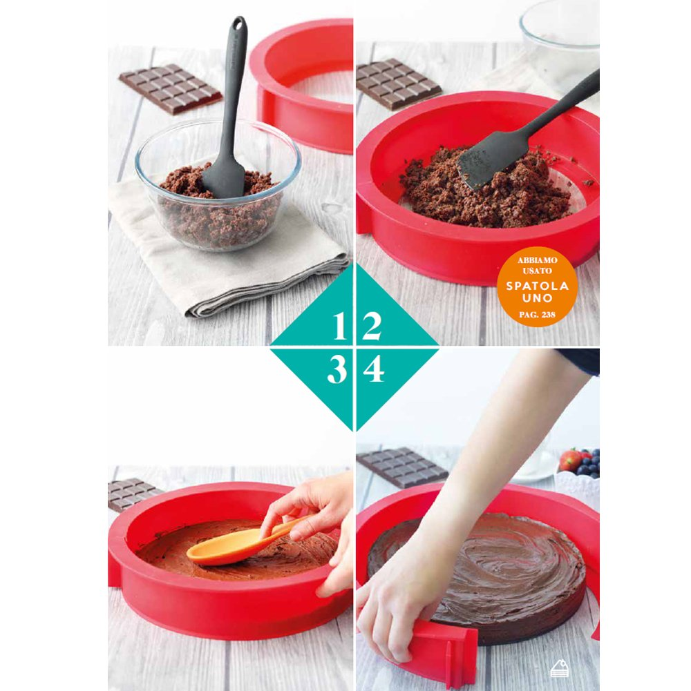/Ø26 cm Springform Silikon Premium-Qualit/ät Kuchenform 26 x 26 cm 100/% Platin-Silikon Springform EASYCAKERSAS Springform Easy Cake Round aus Platin-Silikon mit Glasboden