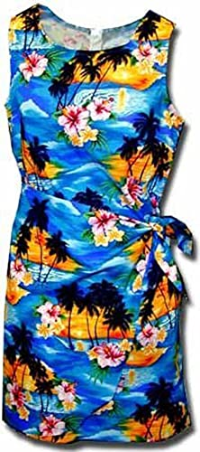 Sunset Palm Hawaiian Dress - W...