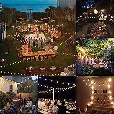 LED Globe String Lights Outdoor, Shatterproof 35ft G40 Light String 30 Bulbs E12 Base Waterproof Outside Hanging Patio Decorative Lighting Garden Backyard Bistro Porch Gazebo Party Wedding Christmas